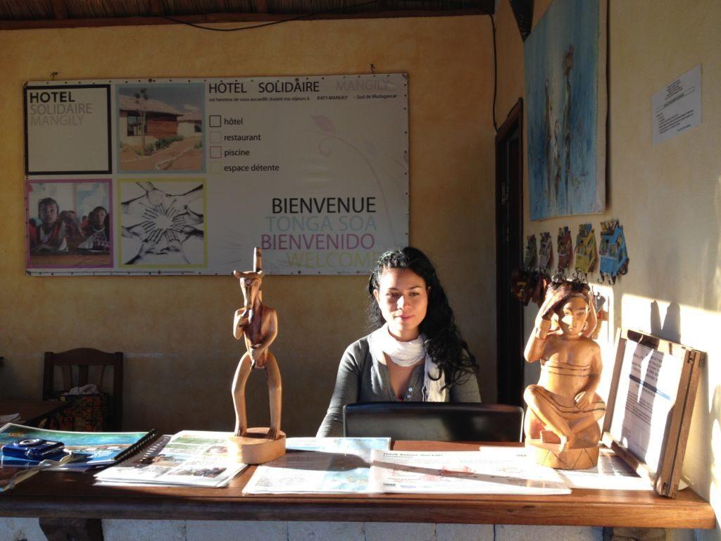 Catalina Delobelle, directora del Hotel Solidario Mangily (Madagascar)