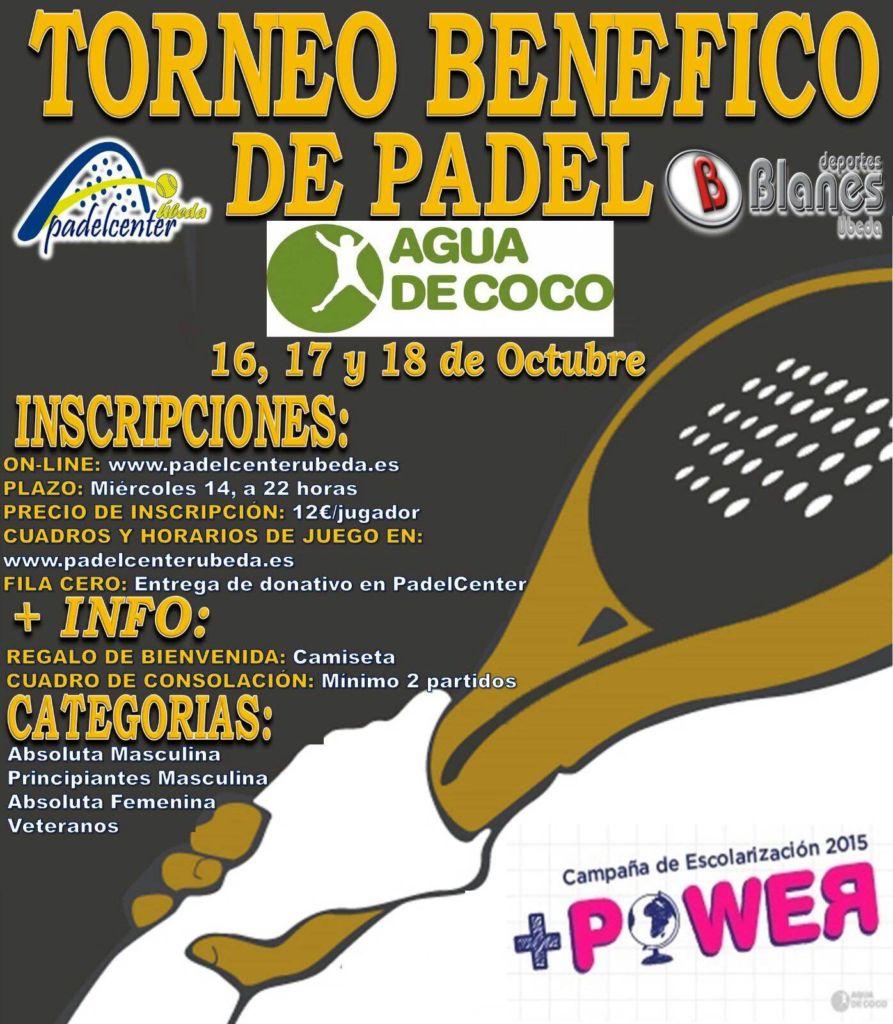 Torneo padel solidario Agua de Coco