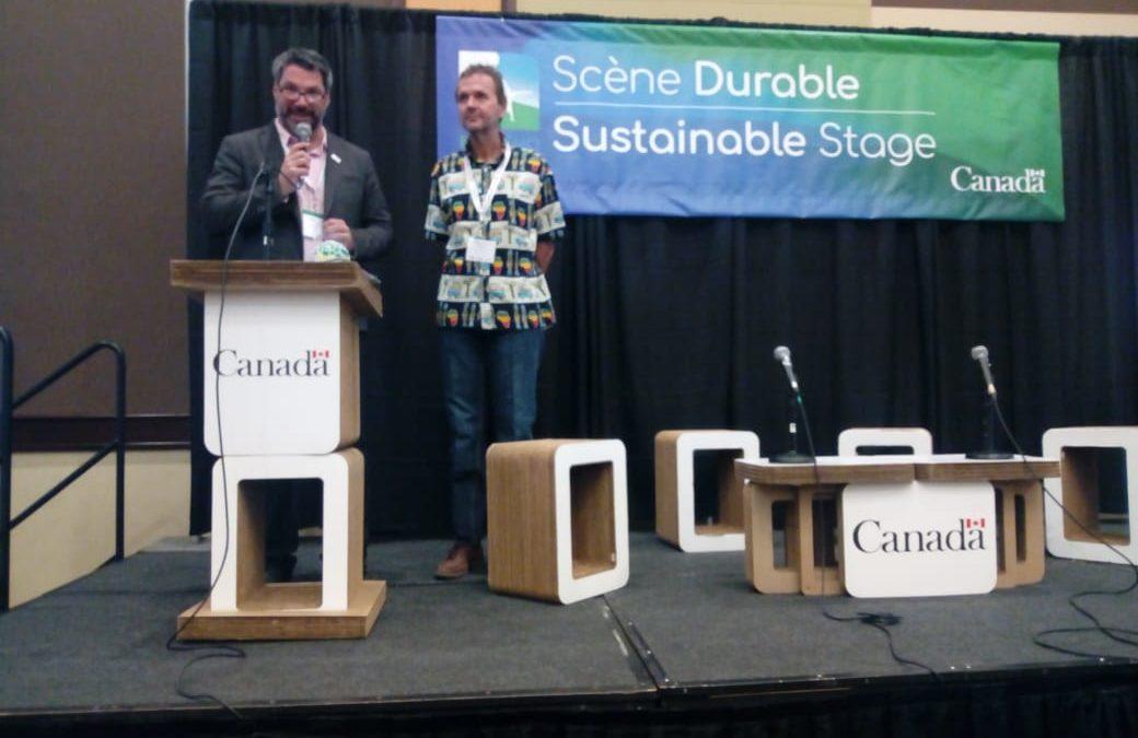 Agua de Coco en «Ecorismo», la feria de turismo sostenible de Canadá