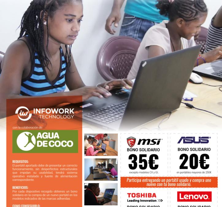 Agua de Coco e Infowork firman un convenio solidario