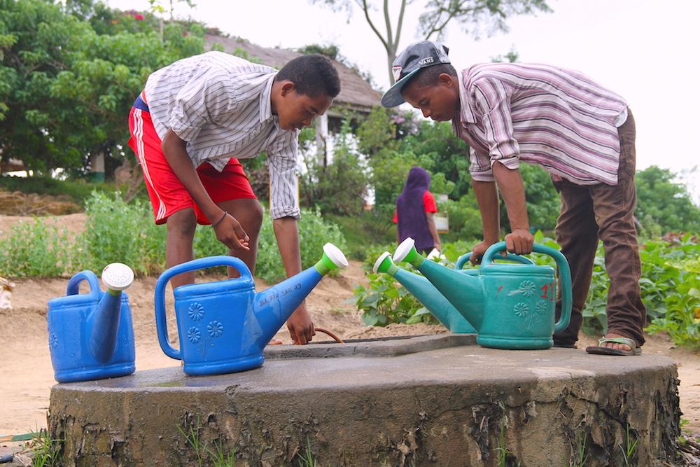 Un día en la granja-escuela, en Madagascar