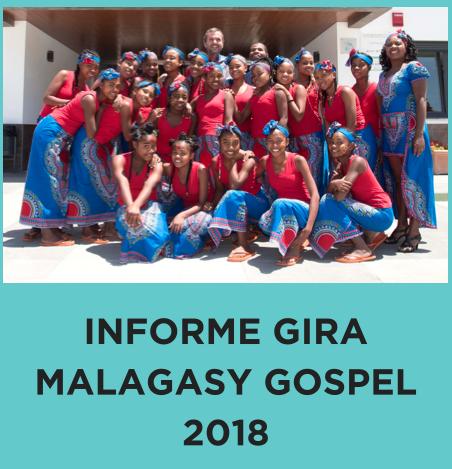 Informe de la gira Malagasy Gospel 2018