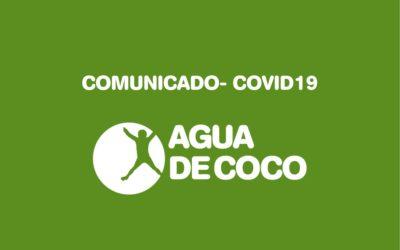 COMUNICADO: Medidas por la alerta sanitaria del COVID19