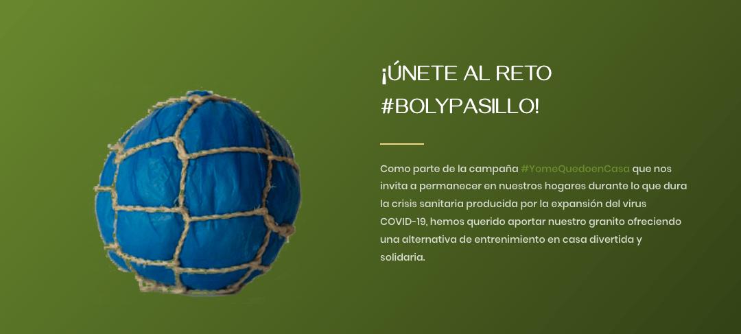 ¡Únete al reto solidario #BolyPasillo!