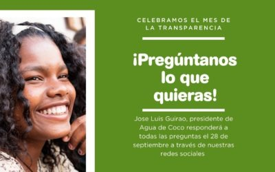 Celebramos el mes de la transparencia de Agua de Coco