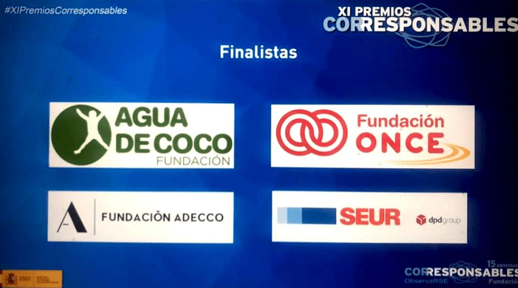 Agua de Coco queda finalista en los premios Corresponsables