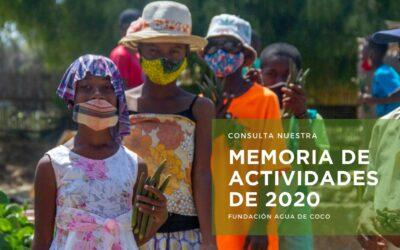 Ya puedes consultar la Memoria de Actividades 2020