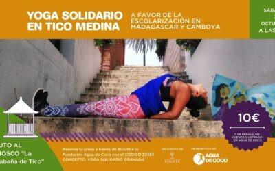 Granada y Madrid se unen para practicar yoga por la escolarización